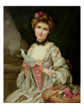 The Love Letter Giclee Print by Francois Martin-kavel