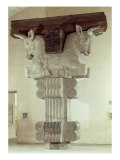 Capital in Persian Style, Column in Apadana, Palace of Darius the Great at Susa, Iran, c. 500 BC Giclee Print