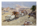 Cotton Transport, India, 1862 Giclee Print by William Simpson