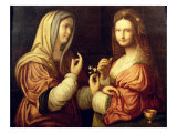 Mary and Martha Giclee Print by Bernardino Luini