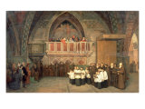 Vespers in the Saint Francis Church in Assisi, 1871 Giclee Print by Mikhail Petrovich Botkin