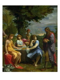 Abraham and the Three Angels Lámina giclée por Ludovico Carracci