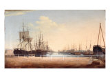 West View of the New Dock at Kingston Upon Hull Giclee Print by Robert Thew