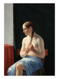 The Model, 1839 Giclee Print by Christoffer-wilhelm Eckersberg