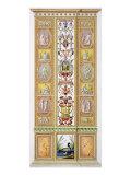Raphael Loggia at the Vatican, 'Delle Loggie Di Rafaele Nel Vaticano', Engraved Giovanni Volpato Giclee Print by Ludovicus Tesio Taurinensis