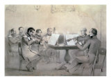 Quartet of the Composer Count A. F. Lvov, 1840 Giclee Print by R. Rorbach