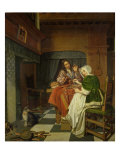 The Chess Players, c.1670 Giclee Print by Cornelis de Man