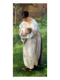 The Wet Nurse Giclee Print by Alfred Roll