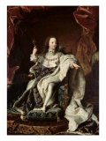 Portrait of Louis XV Giclee Print by Hyacinthe Rigaud