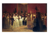 Marriages of Queen Isabella II Reproduction procédé giclée par Karl Girardet