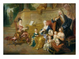 The Franqueville Family, 1711 Giclee Print by Francois de Troy