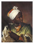 Young Negro with a Bow, c.1697 Giclee Print by Hyacinthe Rigaud