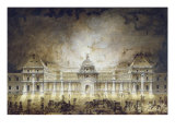 The Luxembourg Palace Illuminated For the Fete du Roi in 1780 Giclee Print by Jean Baptiste Marechal