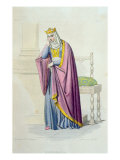 Portrait of Queen Brunhilda Giclee Print by Louis Boulanger