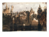 Town with a Broken Bridge Giclee Print by Victor Hugo