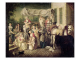 The Arrival of the Wetnurses Giclee Print by Etienne Jeaurat