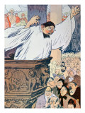 Cartoon Entitled Les Grands Moyens, from L'Assiette Au Beurre, 1906 Giclee Print by Aristide Delannoy