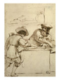 The Moneylender Giclee Print by  Guercino