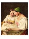 Fortune-Telling, 1842 Giclée-Druck von Aleksei Gavrilovich Venetsianov