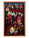 Jesus Washing the Disciples' Feet, 2000 Giclee Print by Laura James