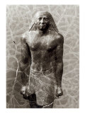 Statue of Mentuemhat, Governor of Thebes, from the Temple of Amun, Karnak, Late Period, c.670 BC Giclee Print by Egyptian 25th Dynasty