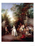 Feast Giclee Print by Nicolas Lancret