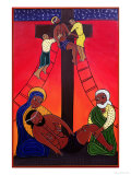 Jesus is Taken from the Cross, No. 13 in 14 Stations of the Cross Series, 2002 Giclee Print by Laura James