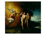 The Expulsion of Adam and Eve Giclee Print by Guiseppe Cesari