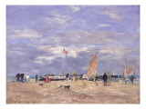 The Jetty at Deauville, 1869 Giclee Print by Eug&#232;ne Boudin