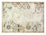 Map of the Mediterranean, 1625 Giclee Print by Johannes Oliva
