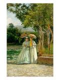 Promenade in a Garden Giclee Print by Silvestro Lega