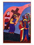 Jesus Meets the Women of Jerusalem, No. 8 in 14 Stations of the Cross Series, 2002 Giclee Print by Laura James