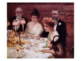 The Corner of the Table Lámina giclée por Paul Chabas