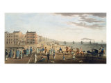 The Chain Pier at Brighton with Characters Giclee Print by G.m. Brighty