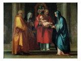 Presentation in the Temple Giclée-tryk af Fra Bartolommeo