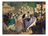 Waltz at the Bal Mabille Giclee Print by Philippe Jacques Linder