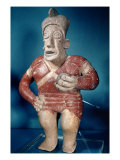 Figurine of a Tlachtli Player Wearing a Helmet, from Jalisco, Classic Period, 400-700 Giclee Print by  Mayan
