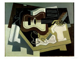 Guitar and Clarinet, 1920 Impresso gicle por Juan Gris