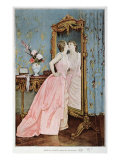 In the Mirror, 1890 Giclee Print by Auguste Toulmouche