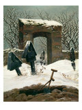 Cemetery in the Snow, 1826 Reproduction procédé giclée par Caspar David Friedrich