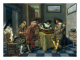 The Game of Backgammon Lámina giclée por Dirck Hals