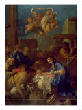 The Adoration of the Shepherds Giclee Print by Sebastien Bourdon