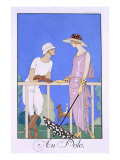 At Polo, 1920-29 Giclee Print by Georges Barbier