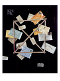 Mr Huling's Letter Rack Picture Giclee Print by William Michael Harnett