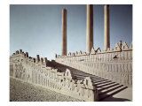 View of the East Staircase of the Apadana Giclee Print by  Achaemenid