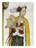 The Nine Worthies and the Nine Worthy Women, Detail of Lampeto, 1418-30 Giclee Print by Giacomo Jaquerio