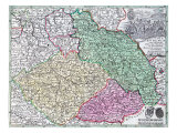 Map of Silesia, from an Atlas Giclee Print by Matthaus Seutter