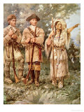 Lewis and Clark with Sacagawea Giclee Print by Edgar Samuel Paxson