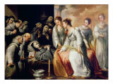 The Death of St. Clare Giclee Print by Bartolome Esteban Murillo