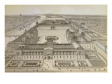 View of the Louvre and the Tuileries, c.1850 Giclee Print by Joseph-gabriel Aubrun